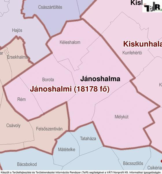 jánoshalma térkép Jánoshalma a járás térképen   Jánoshalma a Jánoshalmai járáshoz  jánoshalma térkép