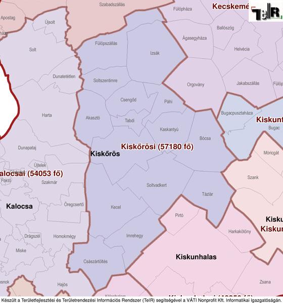 magyarország térkép veresegyház Kecel a járás térképen   Kecel a Kiskőrösi járáshoz tartozik  magyarország térkép veresegyház