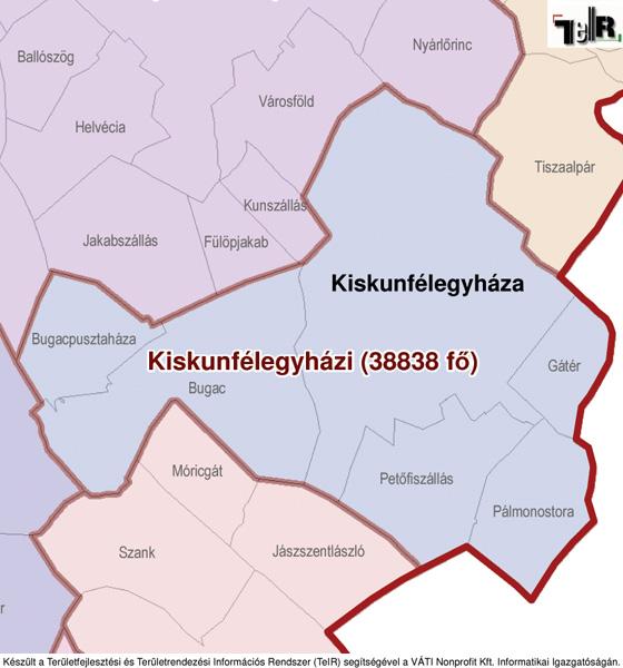 kiskunfélegyháza térkép Gátér a járás térképen   Gátér a Kiskunfélegyházi járáshoz  kiskunfélegyháza térkép