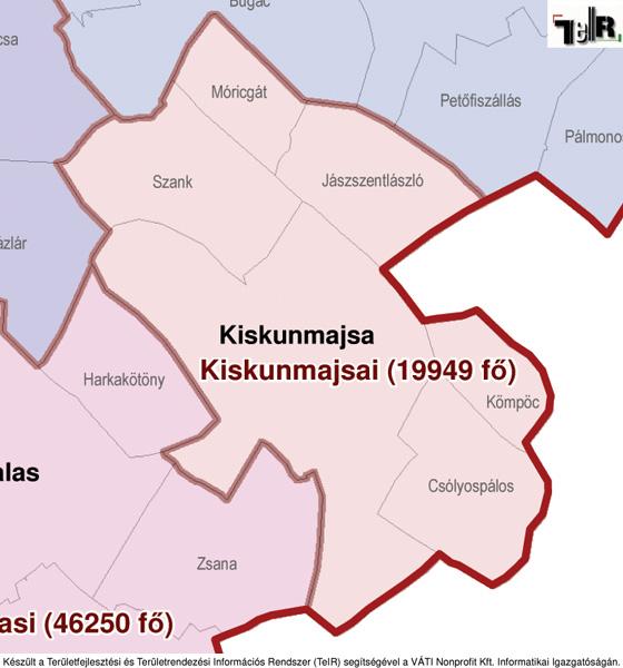 kiskunmajsa térkép Kiskunmajsa a járás térképen   Kiskunmajsa a Kiskunmajsai járáshoz  kiskunmajsa térkép
