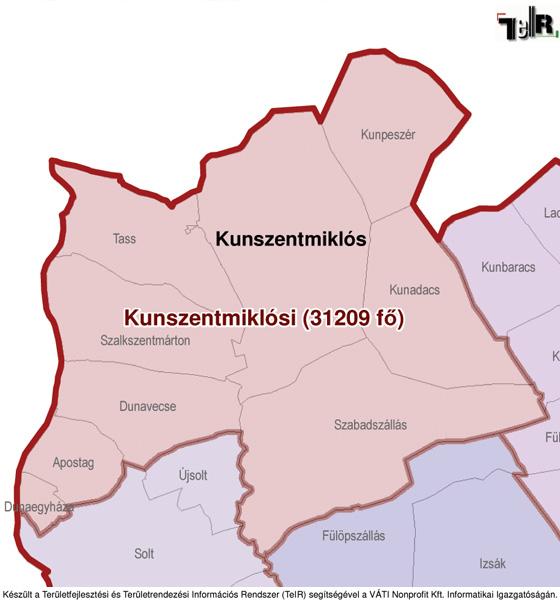 kunszentmiklós térkép Kunszentmiklós a járás térképen   Kunszentmiklós a Kunszentmiklósi  kunszentmiklós térkép