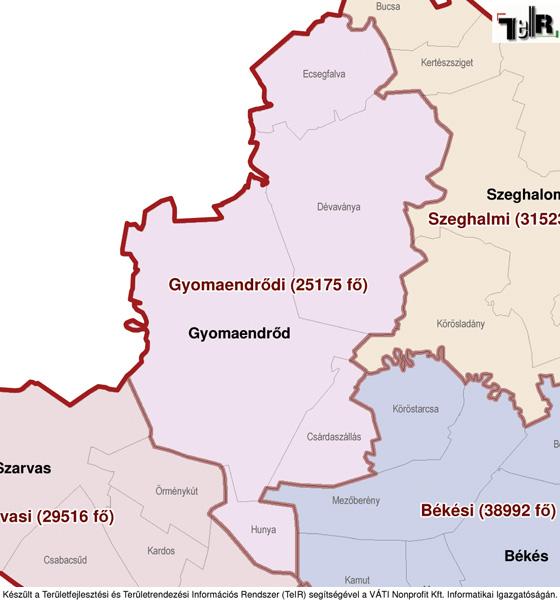 magyarország térkép gyomaendrőd Gyomaendrőd a járás térképen   Gyomaendrőd a Gyomaendrődi járáshoz  magyarország térkép gyomaendrőd