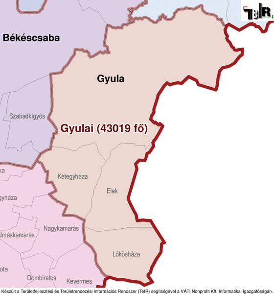 békéscsaba és környéke térkép Gyula a járás térképen   Gyula a Gyulai járáshoz tartozik   Gyula  békéscsaba és környéke térkép