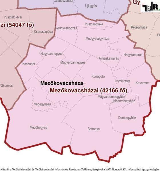 magyarország térkép gyomaendrőd Mezőkovácsháza a járás térképen   Mezőkovácsháza a Mezőkovácsházai  magyarország térkép gyomaendrőd