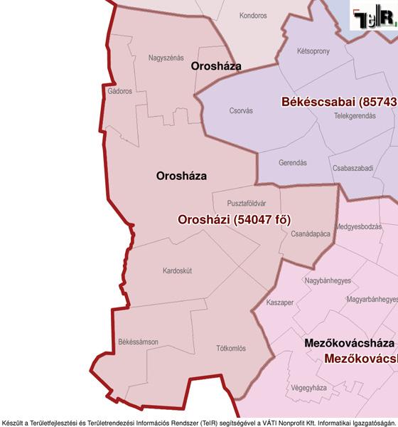 orosháza térkép Orosháza a járás térképen   Orosháza a Orosházi járáshoz tartozik  orosháza térkép