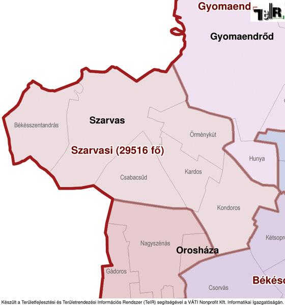 magyarország térkép szarvas Örménykút a járás térképen   Örménykút a Szarvasi járáshoz  magyarország térkép szarvas