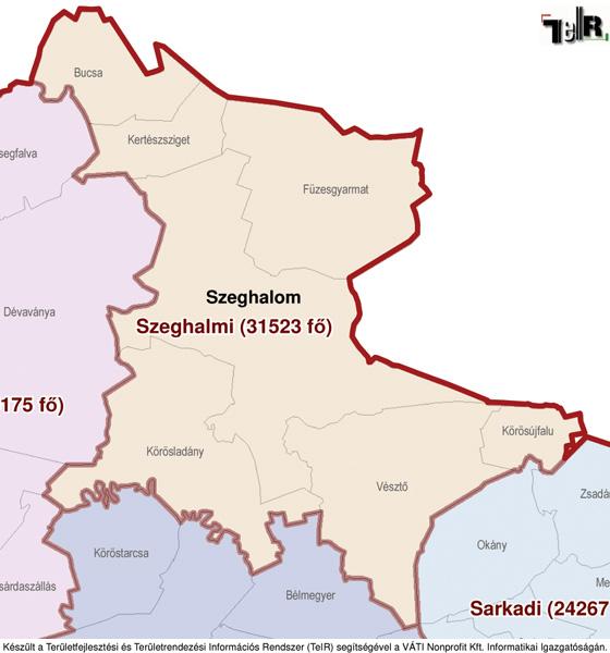 szeghalom térkép Körösújfalu a járás térképen   Körösújfalu a Szeghalmi járáshoz  szeghalom térkép