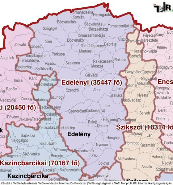 magyarország térkép kazincbarcika Edelény a járás térképen   Edelény a Edelényi járáshoz tartozik  magyarország térkép kazincbarcika
