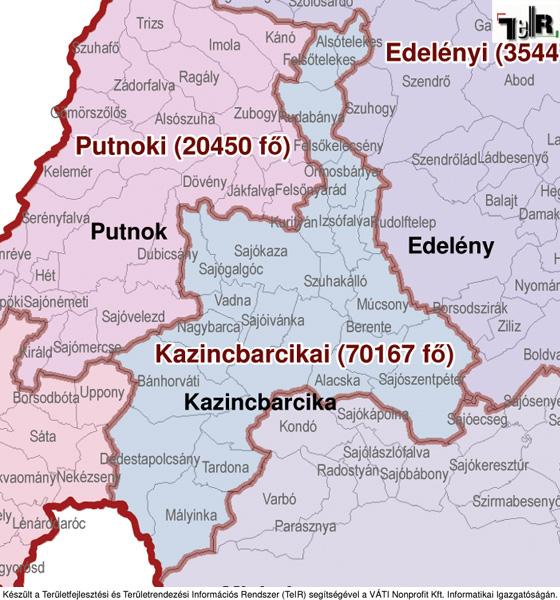 magyarország térkép felcsút Kazincbarcika a járás térképen   Kazincbarcika a Kazincbarcikai  magyarország térkép felcsút