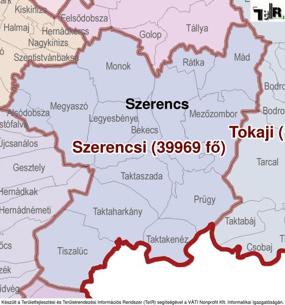 magyarország térkép szerencs Szerencs a járás térképen   Szerencs a Szerencsi járáshoz tartozik  magyarország térkép szerencs