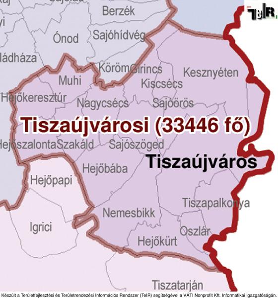tiszaújváros térkép Nemesbikk a járás térképen   Nemesbikk a Tiszaújvárosi járáshoz  tiszaújváros térkép