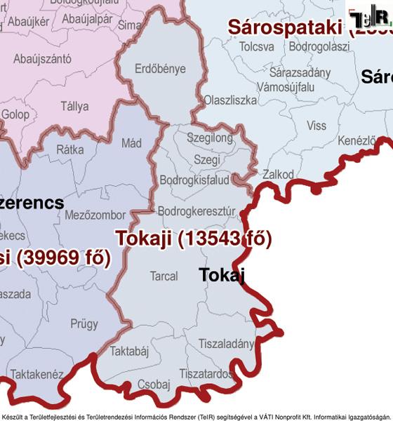 tokaj térkép Tokaj a járás térképen   Tokaj a Tokaji járáshoz tartozik   Tokaj  tokaj térkép