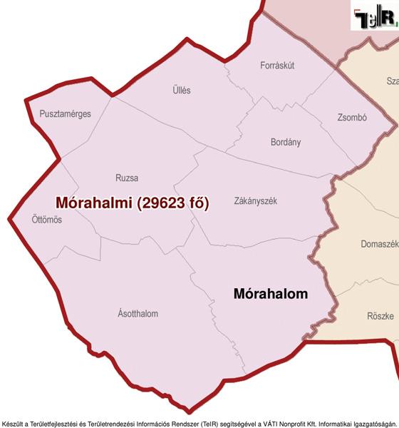 mórahalom térkép Mórahalom a járás térképen   Mórahalom a Mórahalmi járáshoz  mórahalom térkép