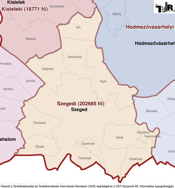 szeged magyarország térkép Szeged a járás térképen   Szeged a Szegedi járáshoz tartozik  szeged magyarország térkép