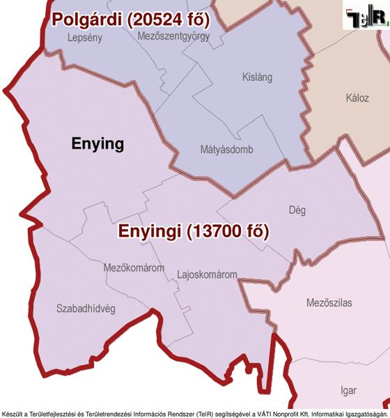 enying térkép Enying a járás térképen   Enying a Enyingi járáshoz tartozik  enying térkép