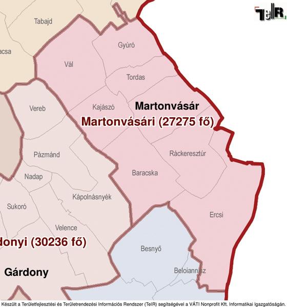 ercsi térkép Ercsi a járás térképen   Ercsi a Martonvásári járáshoz tartozik  ercsi térkép