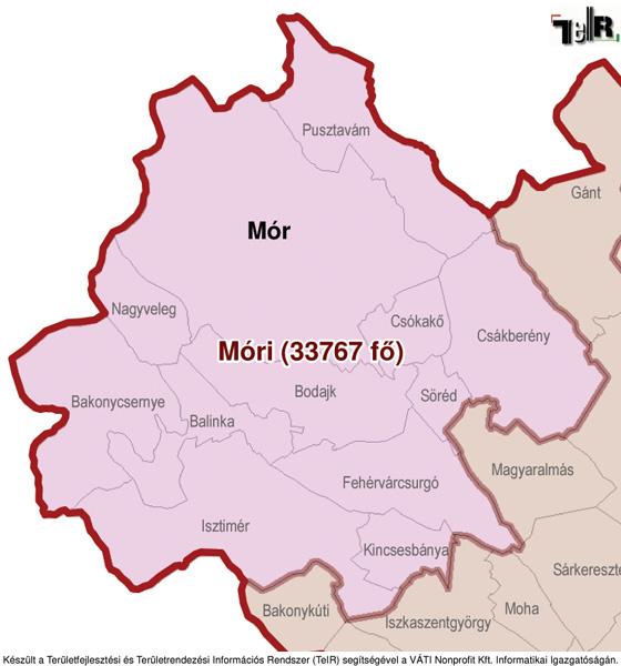 magyarország térkép mór Csókakő a járás térképen   Csókakő a Móri járáshoz tartozik  magyarország térkép mór