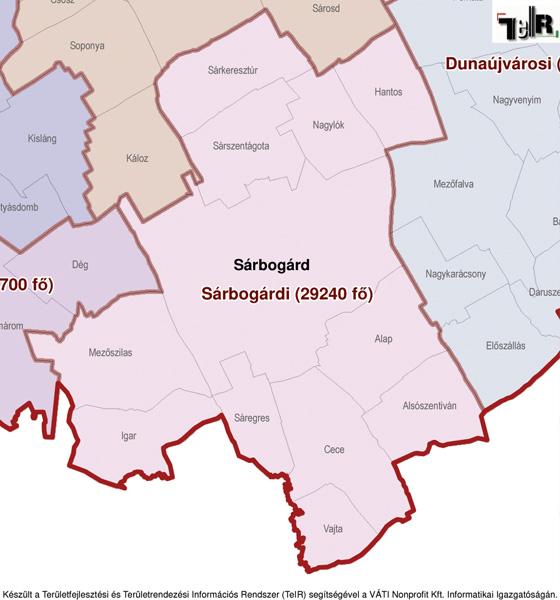 sárbogárd térkép Sárbogárd a járás térképen   Sárbogárd a Sárbogárdi járáshoz  sárbogárd térkép