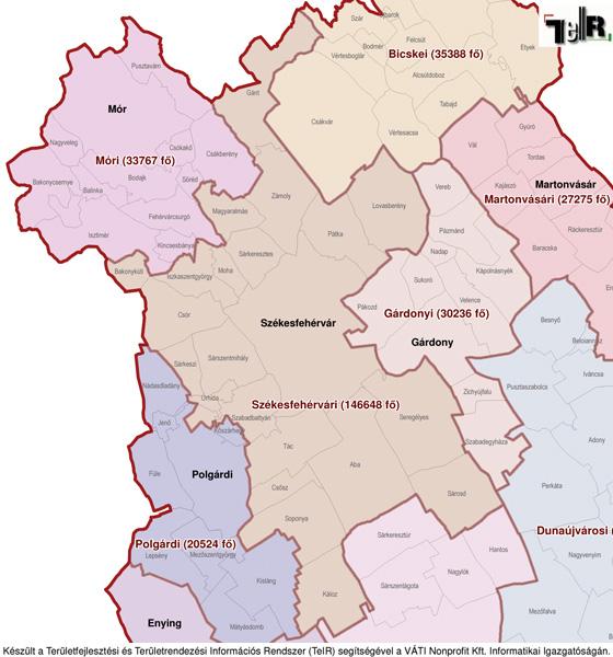 magyarország térkép bicske Székesfehérvár a járás térképen   Székesfehérvár a Székesfehérvári  magyarország térkép bicske