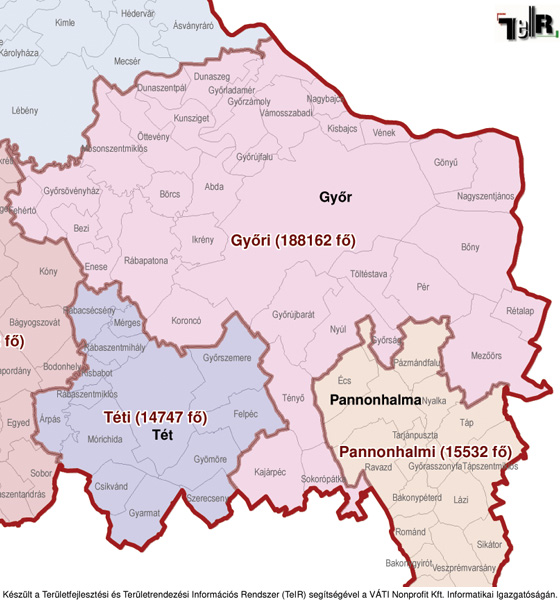 magyarország térkép győr Győr a járás térképen   Győr a Győri járáshoz tartozik   Győr  magyarország térkép győr